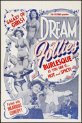 "Movie Posters:Sexploitation, Dream Follies (Tab Pictures, 1954) Folded, Very Fine-. One Sheet(27"" X 41""). Sexploitation...."