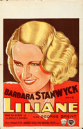"Movie Posters:Drama, Baby Face (Warner Brothers, 1933). Folded, Very Fine-. Pre-WarBelgian (22"" X 34.5"").. ..."