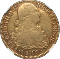 Colombia, Colombia: Ferdinand VII gold 8 Escudos 1810 P-JF XF45 NGC,...