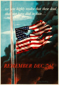 """Movie Posters:War, World War II Propaganda (U.S. Government Printing Office, 1942). Very Fine on Linen. OWI Poster No. 14 (28"""" X 40"""") """"Remember..."""