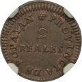 Colombia, Colombia: Provisional 2 Reales 1813 MS61 Brown NGC,...