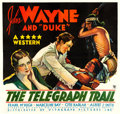 """Movie Posters:Western, The Telegraph Trail (Warner Brothers/Vitagraph, 1933). Fine+ onLinen. Six Sheet (81"""" X 76.25"""").. ..."""