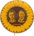 Political:Pinback Buttons (1896-present), Landon & Knox: Largest Size Sunflower Jugate in Choice Condition....