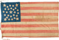Political:Textile Display (pre-1896), U. S. Flags: Circa 1845 27-Star Flag....