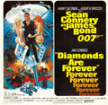 "Movie Posters:James Bond, Diamonds are Forever (United Artists, 1971). Folded, Very Fine/Near Mint. International Six Sheet (77"" X 78.75"") Robert McGi..."