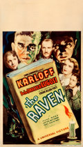 "Movie Posters:Horror, The Raven (Universal, 1935). Fine+. Midget Window Card (8"" X 14"")....."