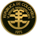 "Colombia, Colombia: Republic gold Proof ""6th Pan American Games"" 1500 Pesos1971 PR64 Ultra Cameo NGC,..."