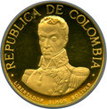 """Colombia, Colombia: Republic gold Proof """"Battle of Boyaca"""" 1500 Pesos 1969-NIPR64 Ultra Cameo NGC,..."""
