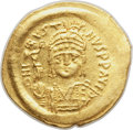 Ancients:Byzantine, Ancients: Justin II (AD 565-578). AV lightweight solidus of 20siliquae (20mm, 4.02 gm, 6h).VF, scratches....