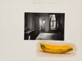 Photographs:Gelatin Silver, Duane Michals (American, b. 1932). Banana and Room at the Hotel Earle, 1980. Gelatin silver print and oil. 7-1/2 x 9 inc...