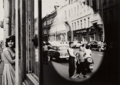 Photographs:Gelatin Silver, William Klein (American, b. 1928). Oval Reflection, Moscow,1959. Gelatin silver, 1981. 12-1/8 x 17 inches (30.8 x 43.2 ...