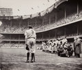 Photographs:Gelatin Silver, Nat Fein (American, 1914-2000). The Babe Bows Out (Babe Ruth), 1948. Gelatin silver. 9-5/8 x 11-1/8 inches (24.4 x 28.3 ...