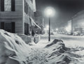 Photographs:Gelatin Silver, Marion Post Wolcott (American, 1910-1990). Center of Town after Blizzard, Woodstock, Vermont, 1940. Gelatin silver, pr...