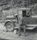 Photographs:Gelatin Silver, Marion Post Wolcott (American, 1910-1990). Miner Waiting for Ride Home, Capels, West Virginia, 1938. Gelatin silver, p...