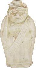 """Political:3D & Other Display (1896-present), Woman's Suffrage: Theodore Roosevelt """"Suffer-E'Get"""" Figural Flask...."""