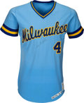 Baseball Collectibles:Uniforms, 1978 Paul Molitor Game Worn & Signed Milwaukee Brewers Rookie Jersey, MEARS A10. ...