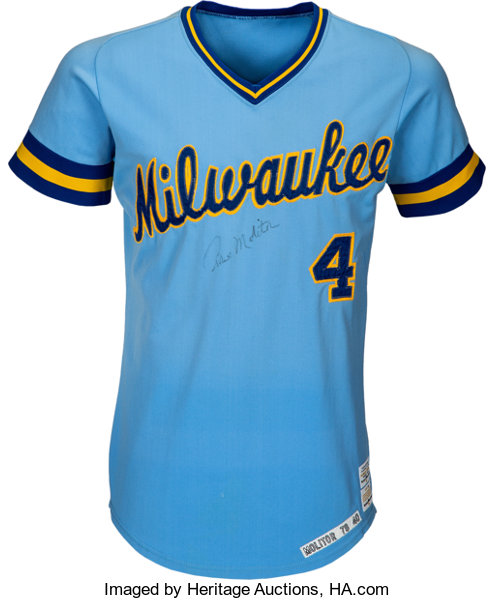 premium selection c584e 62483 1978 Paul Molitor Game Worn & Signed Milwaukee Brewers ...