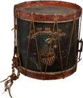 Military & Patriotic:Pre-Civil War, Jordan B. Noble Owned Snare Drum: African American Drummer in the Battle of New Orleans/War of 1812. ...