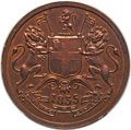 India: British India. East India Company Proof 1/2 Anna 1835-(b) PR63 Red and Brown PCGS