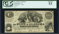 Obsoletes By State:Alabama, Montgomery, AL- State of Alabama $100 Jan. 1, 1864 Cr. 12 PCGS About New 53.. ...