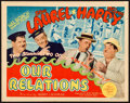 """Movie Posters:Comedy, Our Relations (MGM, 1936). Fine/Very Fine. Title Lobby Card (11"""" X14"""").. ..."""