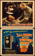 "Movie Posters:Academy Award Winners, All Quiet on the Western Front (Universal, 1930). Fine+. Title Lobby Card & Lobby Card (11"" X 14"").. ... (Total: 2 Items)"