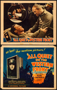 """All Quiet on the Western Front (Universal, 1930). Fine+. Title Lobby Card & Lobby Card (11"""" X 14"""")..."""