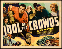 """Idol of the Crowds (Universal, 1937). Fine+. Title Lobby Card (11"""" X 14"""")"""