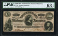 """Confederate Notes:1864 Issues, CT65/491 """"Havana Counterfeit"""" $100 1864 PMG Choice Uncirculated 63 EPQ.. ..."""
