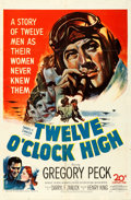 "Movie Posters:War, Twelve O'Clock High (20th Century Fox, 1949). Folded, Fine+. OneSheet (27"" X 41"").. ..."