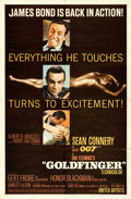 "Movie Posters:James Bond, Goldfinger (United Artists, 1964). Folded, Fine/Very Fine. One Sheet (27"" X 41"") Flat Style.. ..."