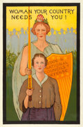 Movie Posters:War, World War I Propaganda (State and National Councils of Def...
