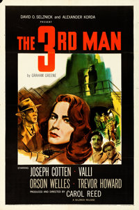 "The Third Man (Selznick, 1949).Folded, Very Fine-. One Sheet (27"" X 41"")"