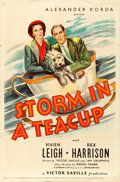 Movie Posters:Comedy, Storm in a Teacup (United Artists, 1938). Folded, Fine+.
