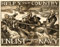 Movie Posters:War, World War I Propaganda (U.S. Navy, 1917). Fine/Very Fine o...
