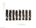 Decorative Arts, Continental:Other , A CHINESE SET OF EIGHT CARVED FIGURES... (8 Items)