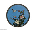 Decorative Arts, Continental:Other , A CHINESE CLOISONNE PLATE...