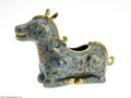 Decorative Arts, Continental:Other , A CHINESE CLOISONNE DONKEY...