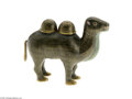 Decorative Arts, Continental:Other , A CHINESE CLOISONNE CAMEL INKWELL...