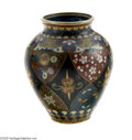 Decorative Arts, Continental:Other , A JAPANESE MEIJI PERIOD CLOISONNE COVERED GINGER JAR...
