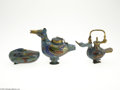 Decorative Arts, Continental:Other , THREE CLOISONNE CENSERS... (3 Items)