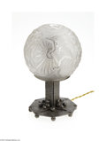 Decorative Arts, Continental:Lamps & Lighting, A METAL AND GLASS GLOBE LAMP... (2 Items)