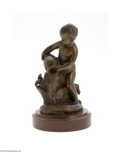 Decorative Arts, Continental:Other , A FRENCH BRONZE FIGURINE...