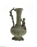 Decorative Arts, French:Other , A FRENCH METAL VASE...