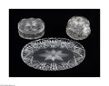 Art Glass:Other , AN AMERICAN BRILLIANT CUT GLASS DRESSER SET... (5 Items)