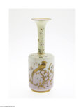 Art Glass:Other , AN ENAMEL AND GILT DECORATED GLASS VASE...