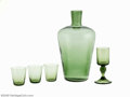 Art Glass:Other , COLLECTION OF AMERICAN GREEN GLASS ITEMS... (5 )