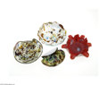 Art Glass:Other , FIVE ITALIAN GLASS ITEMS... (5 Items)