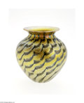 Art Glass:Other , AN AMERICAN IRIDESCENT GOLD ART GLASS VASE...