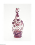 Art Glass:Galle, A FRENCH OVERLAID AND ETCHED GLASS VASE...